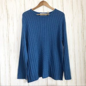 Vintage Sarah Bentley Sweater Blue Ribbed Large